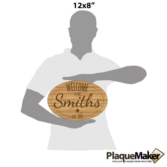 Personalized Welcome Signs - Bamboo Wood Size Guide