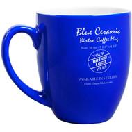 Blue Ceramic Bistro Mug