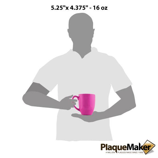 Pink Ceramic Bistro Mug Size Guide