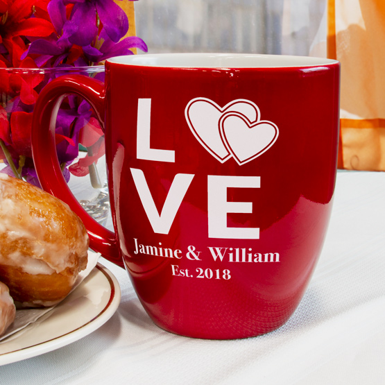Heart Love Red Bistro Mug