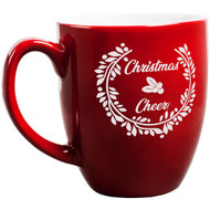 Red Christmas Cheer Bistro Mug