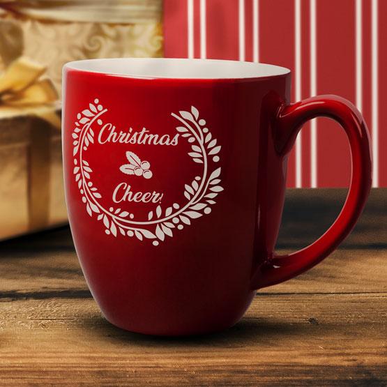 Red Christmas Cheer Bistro Mug