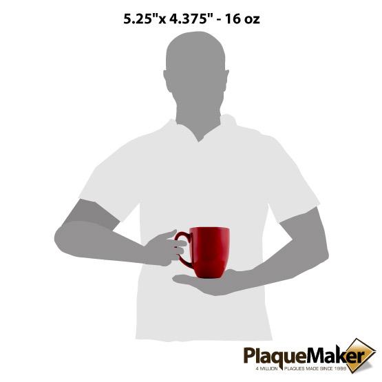Red Ceramic Bistro Mug Size Guide