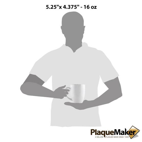 White Ceramic Bistro Mug Size Guide