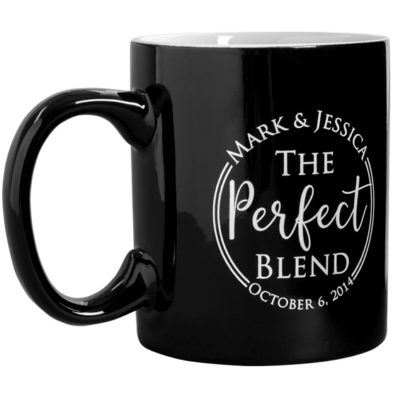 Black Ceramic Round Mug