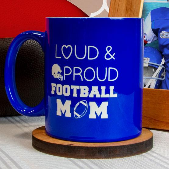 Blue Ceramic Round Mug
