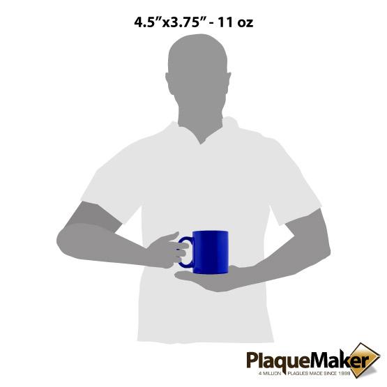 Blue Ceramic Round Mug Size Guides