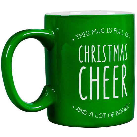 Christmas Cheer and Booze Round Mug