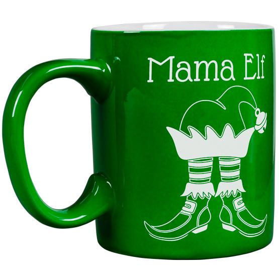 Mama Elf Round Mug