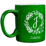 Monogram Wreath Round Mug