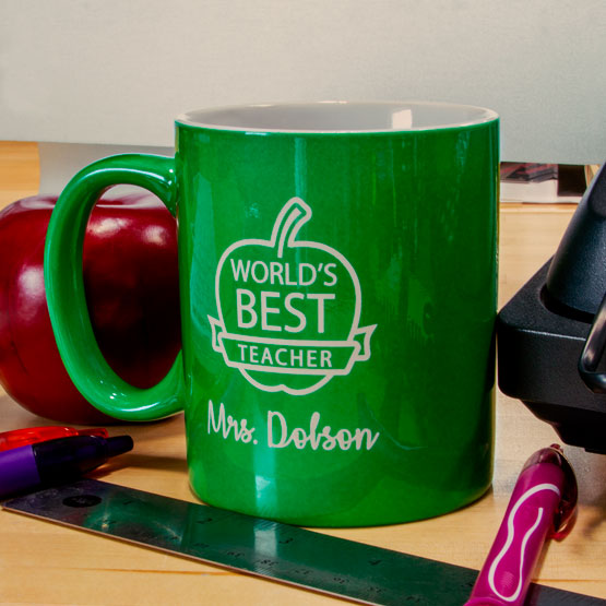 Green Ceramic Round Mug