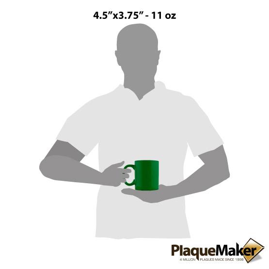 Green Ceramic Round Mug Sizes