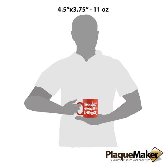 Thankful Fall Mug Size
