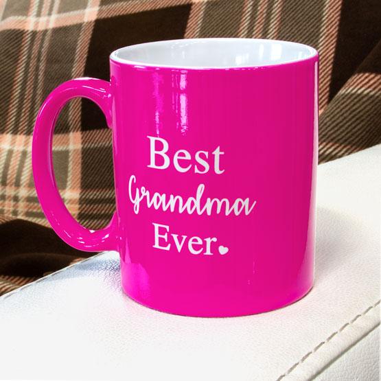 Pink Ceramic Round Mug