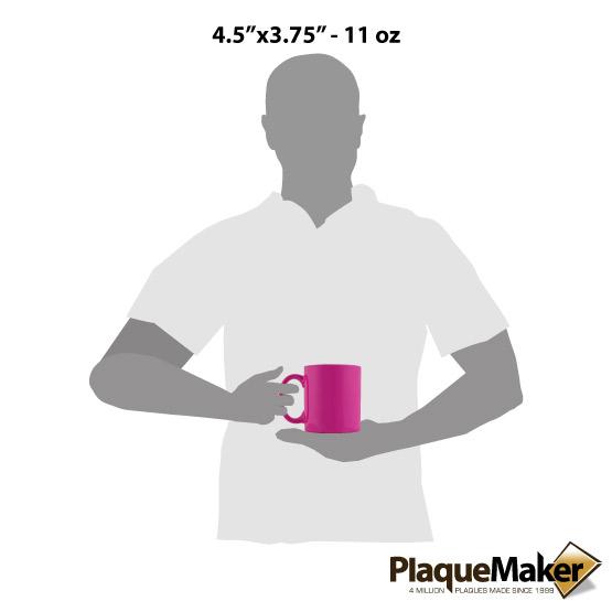 Pink Ceramic Round Mug Sizes