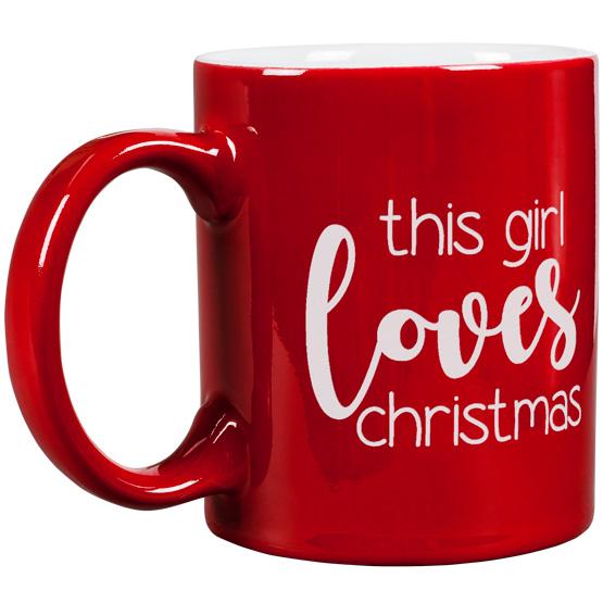 This Girl Loves Christmas Round Mug
