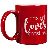This Girl Loves Christmas Round Mug