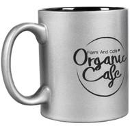 Silver Ceramic Round Mug