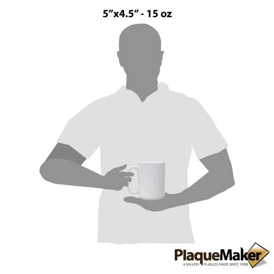 Sublimated White Mug Size