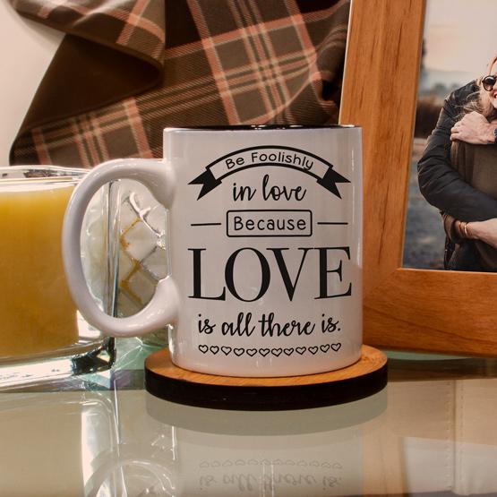 Foolishly in Love White Mug