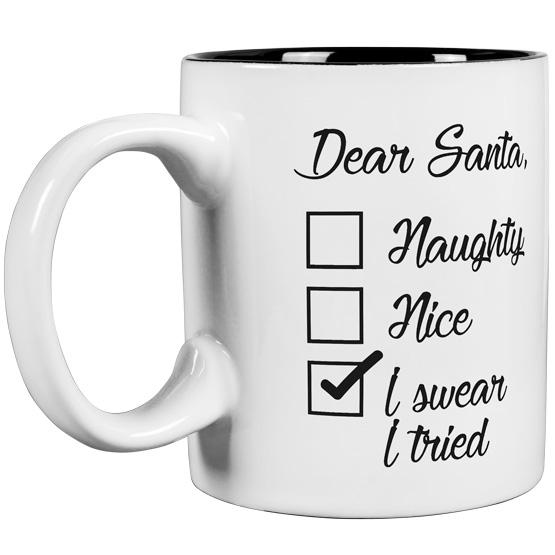 Dear Santa Round Mug
