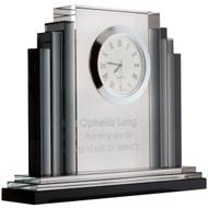 Engraved Clocks - Art Deco Crystal