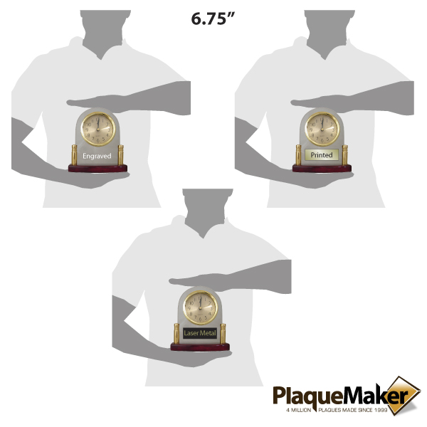 glass clock size guide