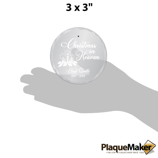 Christmas in Heaven Ornament Sizes