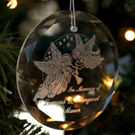 circle crystal ornament sale