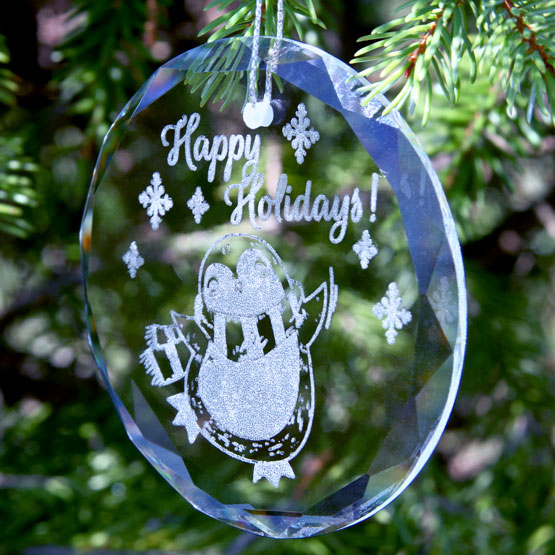 Crystal Circle Ornaments