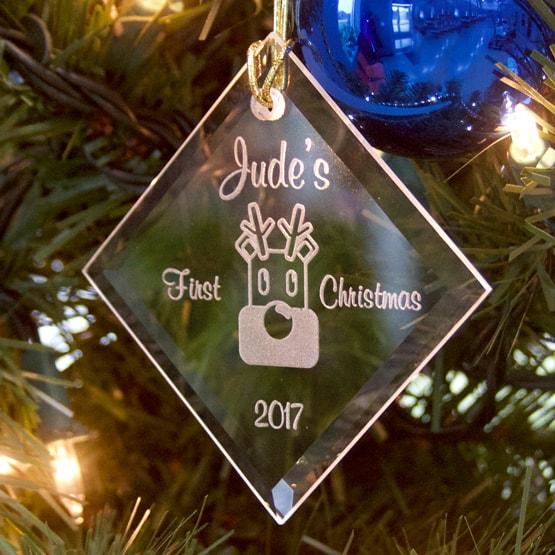 Personalized Christmas Ornament - Diamond Crystal