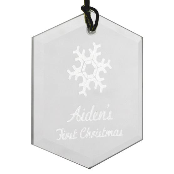 Hexagon Christmas Ornament