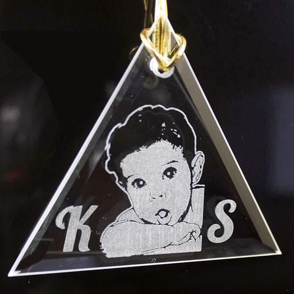 triangle crystal ornament sale