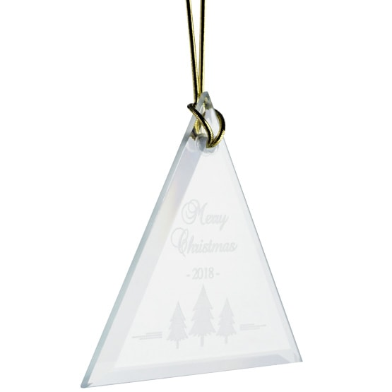 triangle crystal ornament