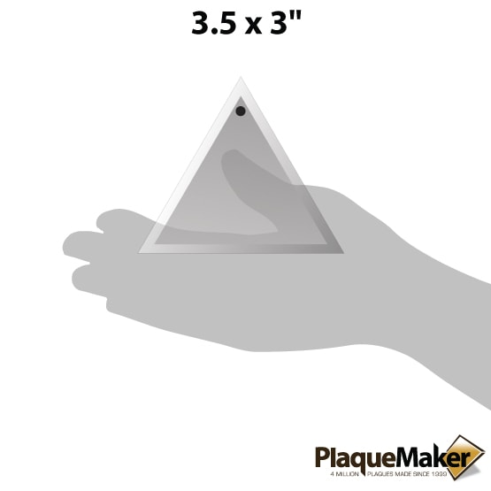 triangle crystal ornament size