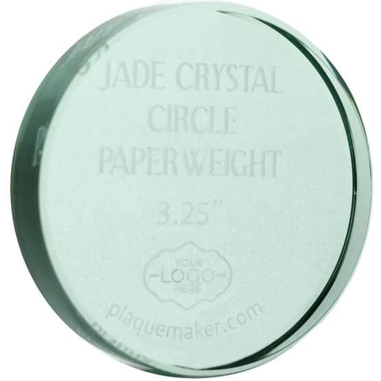 Jade Crystal Circle Paperweights