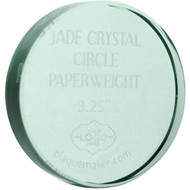 Jade Crystal Circle Paperweights