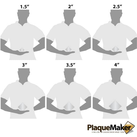 Cube Paperweight Size Chart