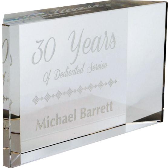 Glass Facet Paperweight