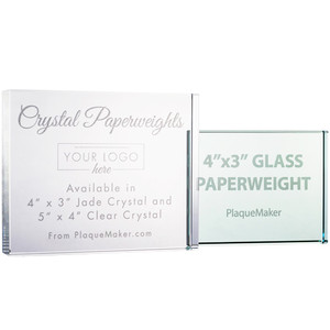 Personalized Crystal Paperweights