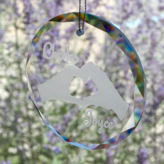 crystal circle sun catcher