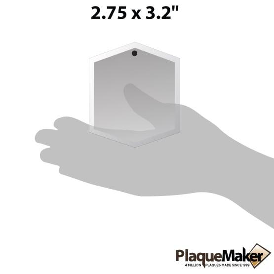 Hexagon crystal suncatcher size guide