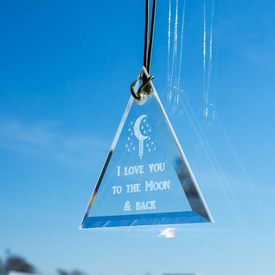 Triangle glass sun catcher