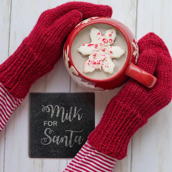 Milk for Santa Granite Coaster
