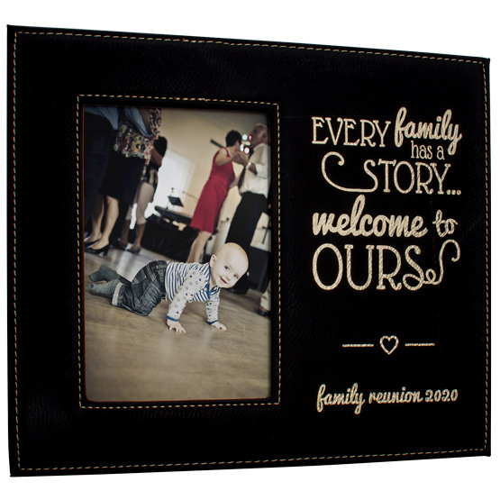 Black with Gold Message Frame