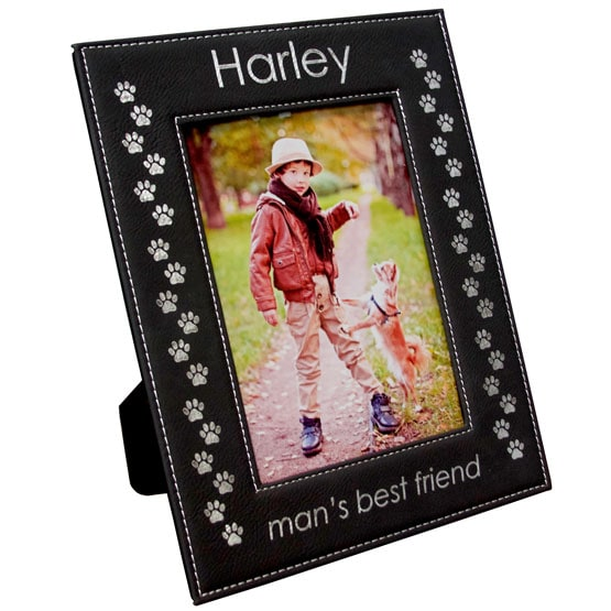 Black Leatherette Photo Frame