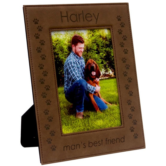 Dark Brown Leatherette Photo Frame