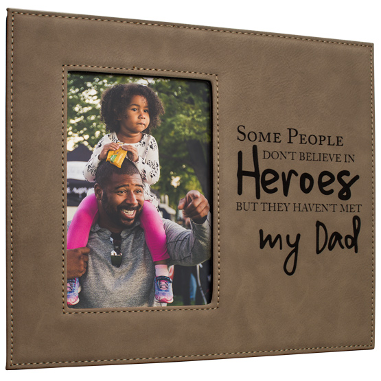 Light Brown Message Picture Frame