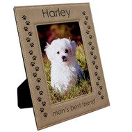 Light Brown Leatherette Photo Frame