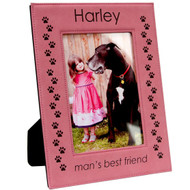 Pink Leatherette Photo Frame